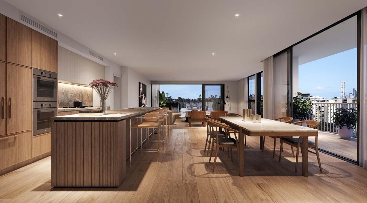 Kensington_Penthouse Living Kitchen Balcony (002)